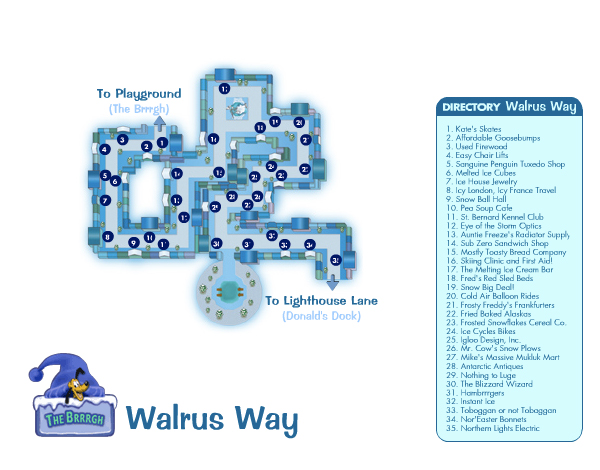 Walrus Way Map