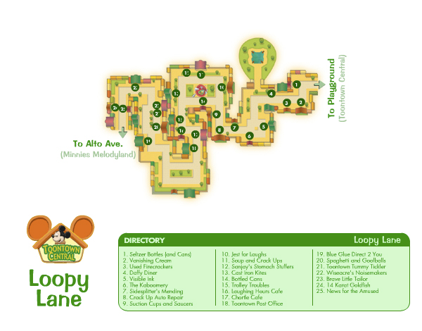 Loopy Lane Map