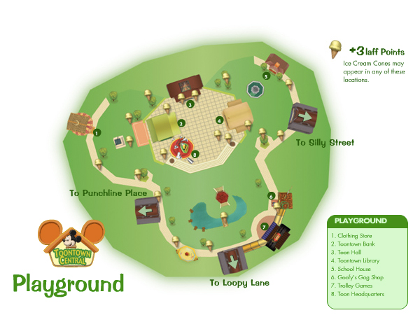 Toontown central playground map