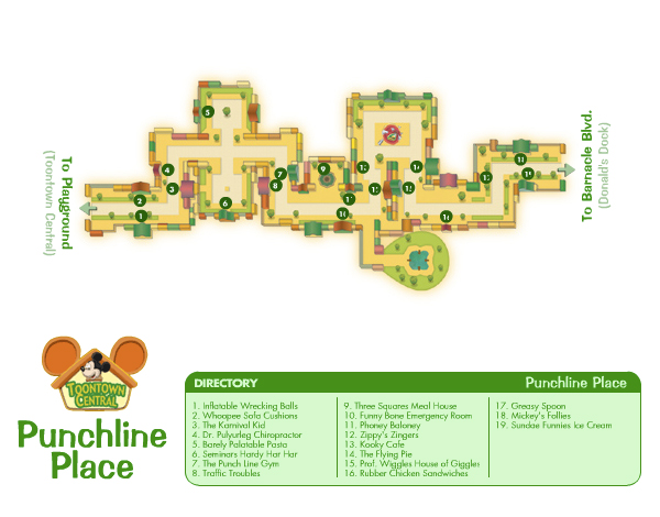 Punchline Lane Map