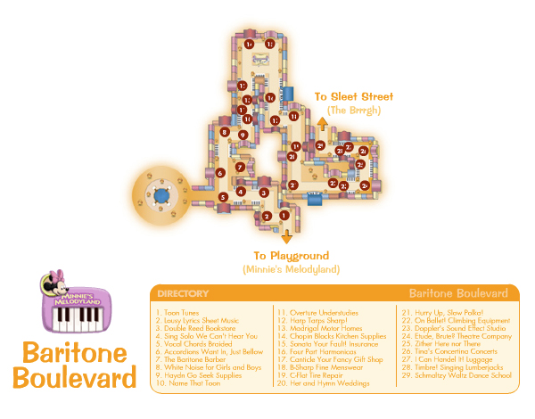 Baritone Boulevard Map