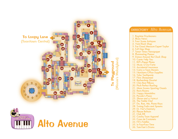 Alto Avenue Map